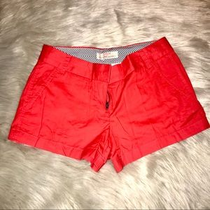 NWT J. Crew Red Cotton Chino Shorts